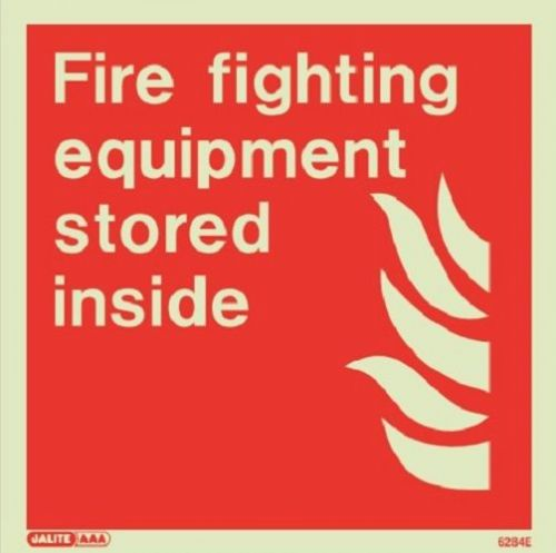 Firefighters Equipment Signs